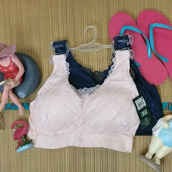 47b3188150 Laura Ashley 2 pc seamless bras pink and navy